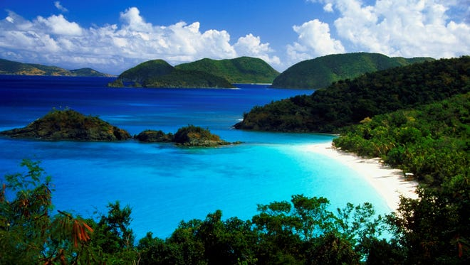 Trunk Bay, St. John, U.S. Virgin Islands. St. John, with its national parkland and legendary diving, will charm true escapists.
