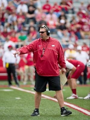 New Arkansas coach Bret Bielema reached the Rose Bowl in each of his last three seasons at Wisconsin.
