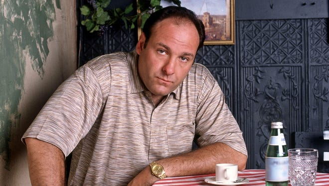 This 1999 file photo shows James Gandolfini in an episode from the first season of HBO's 'The Sopranos.'