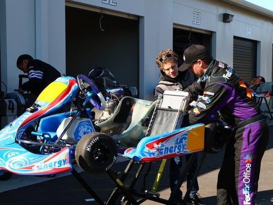 NASCAR drivers flock to kart track, racer's Disneyland