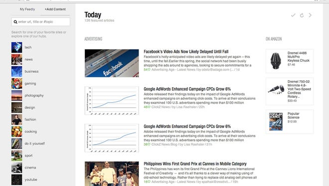 Feedly is a replacement for Google Reader, a tool for bringing headlines and articles from your favorite websites into a single place.