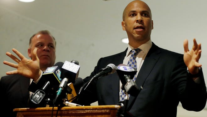 Newark Mayor Cory Booker, a Democrat, is running for the U.S. Senate