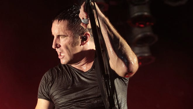 Nine Inch Nails Trent Reznor performs during the Bonnaroo Arts , Music Festival in Manchester, Tenn., June 14, 2009.