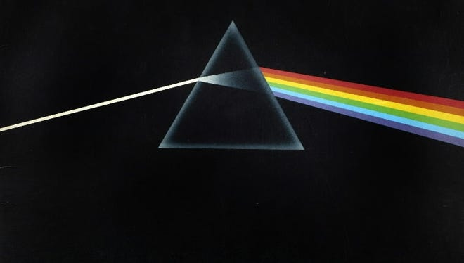 Shown is the cover the album The Dark Side of the Moon by Pink Floyd, (1973)