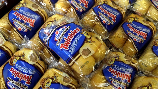 Twinkies baked goods are displayed for sale at the Hostess Brands' bakery in Denver, Colo., before they were taken off the market.