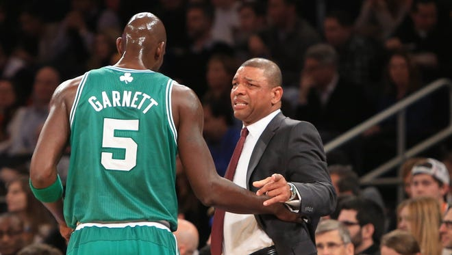 Doc Rivers will join the Clippers, but for now Kevin Garnett is stationary.