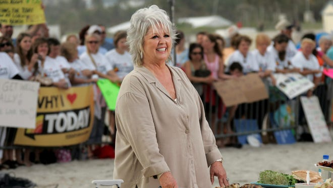 Paula Deen in Miami for a 'Today' show appearance on Feb. 22, 2008.