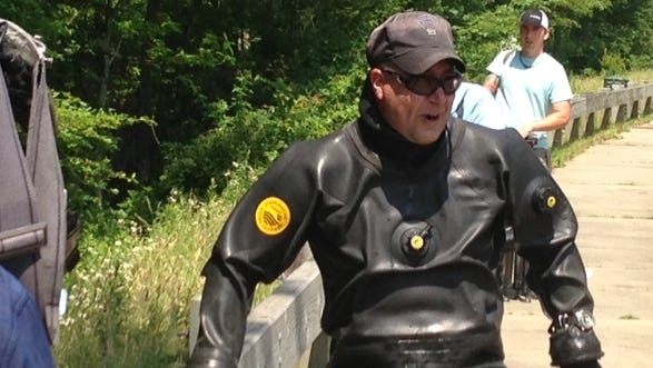 Police divers searched near Aaron Hernandez's Massachusetts home June 24.