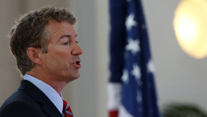 Sen. Rand Paul speaks at a conference in Washington.