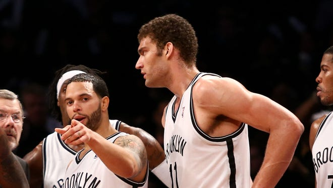 Brooklyn Nets enter Brook Lopez (11) had a screw replaced in his foot.