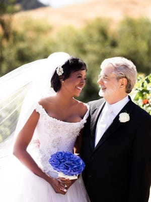 George Lucas and Mellody Hobson on their June 22, 2013 wedding day.