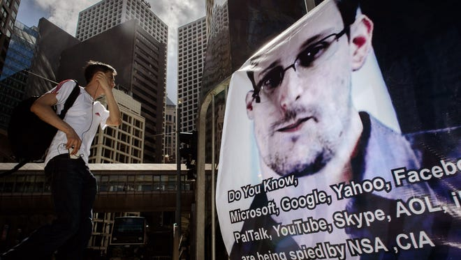 A banner in Hong Kong expresses support for Edward Snowden, the National Security Agency leaker now on the run.