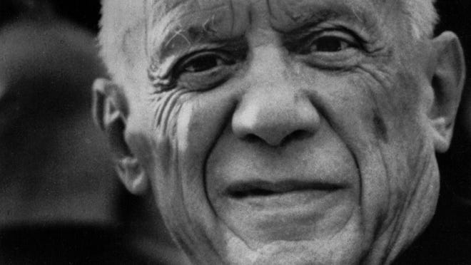 Pablo Picasso is seen in a 1972 photo.