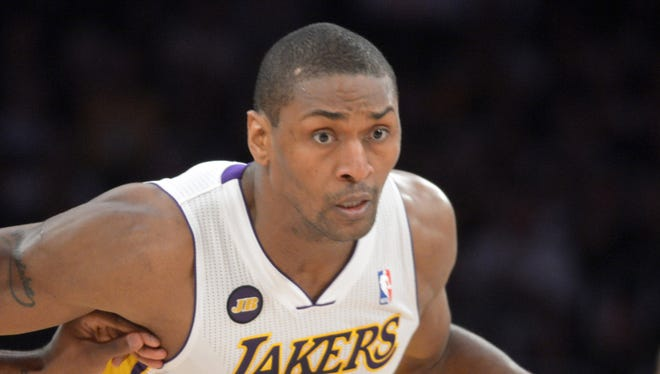 Lakers forward Metta World Peace will play out the final year of his contract.