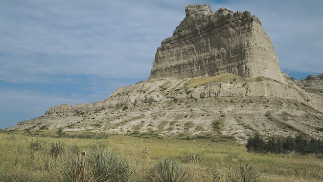 Scotts Bluff was a major landmark for pioneers heading west in the 1800s.
