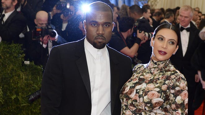 Kanye West and Kim Kardashian weren't parents yet at the Met Ball in May.