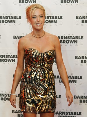 Kate Gosselin arrives at the Barnstable Brown Derby party in Louisville on May 6, 2011.
