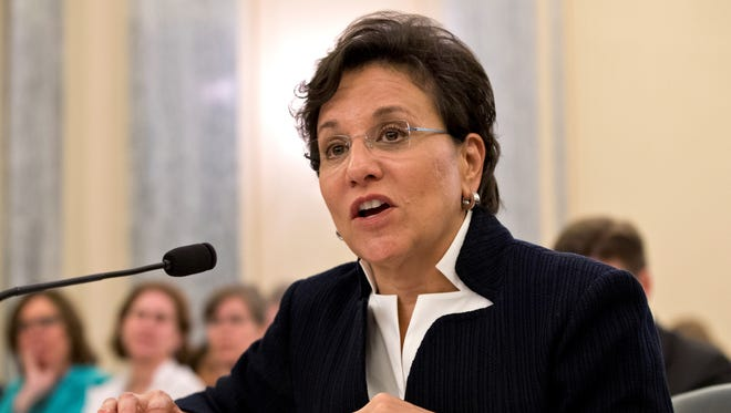 Chicago billionaire business executive Penny Pritzker, President Obama's pick for Commerce Secretary, testifies on Capitol Hill on May 23.