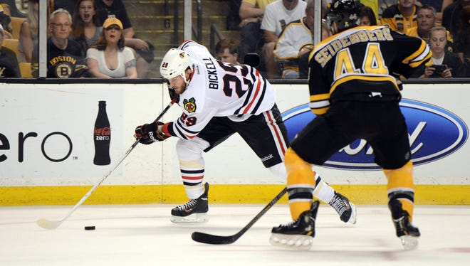 Chicago Blackhawks forward Bryan Bickell will be a key unrestricted free agent this summer.