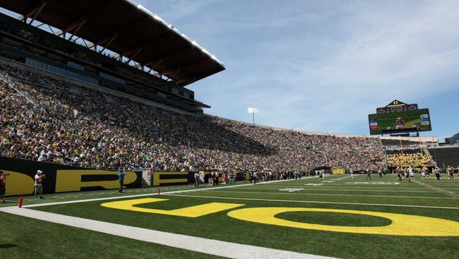 Oregon's Autzen Stadium is a gathering place for one of the state's premier sports attractions. Its primary occupant, the Ducks football team, will be on probation in 2013.