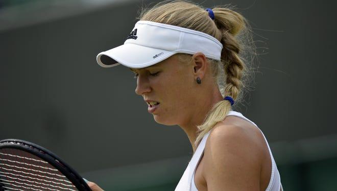 Caroline Wozniacki lost her second round match to Petra Cetkovska, 6-2, 6-2.