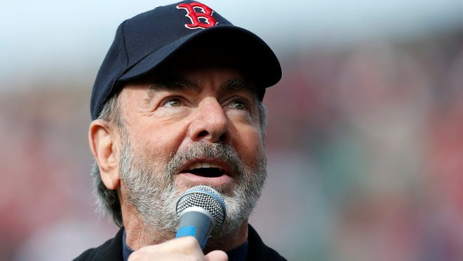 Neil Diamond sang 'Sweet Caroline' on April 20 in the eighth inning of a baseball game in Boston between the Royals and the Red Sox, playing at home for the first time since the Boston Marathon explosions.