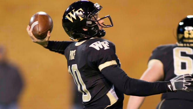 Wake Forest quarterback Tanner Price is one of several seniors set for starting roles under coach Jim Grobe.