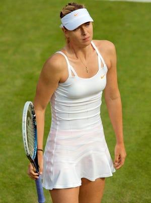 Maria Sharapova was upset by Michelle Larcher De Brito in their second round match