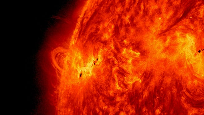 A solar flare captured by the Solar Dynamics Observatory last month.