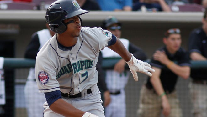 Outfielder Byron Buxton runs to first in the first inning during the Midwest League-All Star Game in Dayton, Ohio.