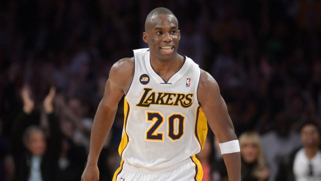 Lakers guard Jodie Meeks will stay with the team.