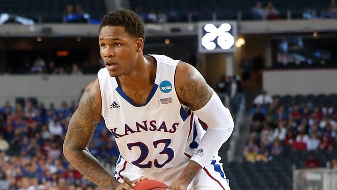 Former Kansas guard Ben McLemore (23), in New York for the NBA draft, explained his reasons for choosing to be represented by newly certified agent Rodney Blackstock.