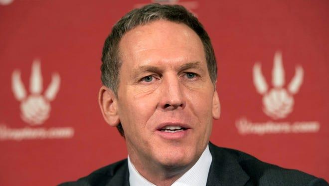 Bryan Colangelo has stepped down as Toronto Raptors president.