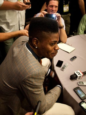 Nerlens Noel spoke with the news media Wednesday in advance of the NBA draft.