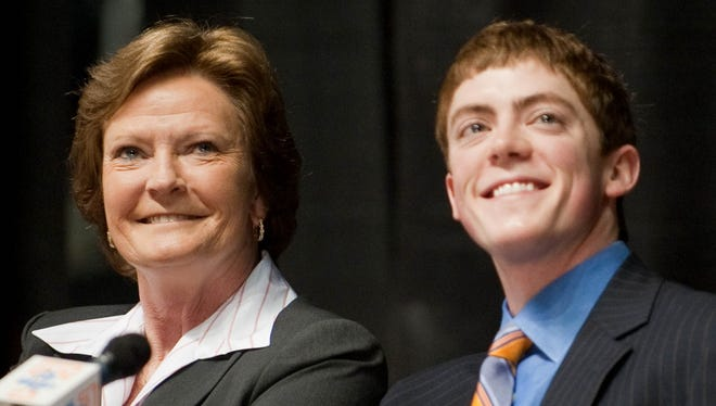 Summitt says she now has more time to watch her son, Tyler, as an assistant women's basketball coach at Marquette.