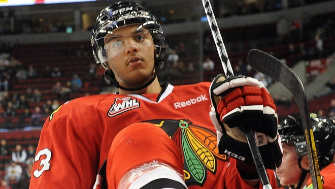 Defenseman Seth Jones had 14 goals and 56 points in 61 games this season with Portland (Ore.) of the Western Hockey League.