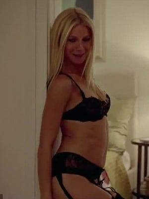 Gwyneth Paltrow gets sexy in a scene for September movie, 'Thanks for Sharing.'