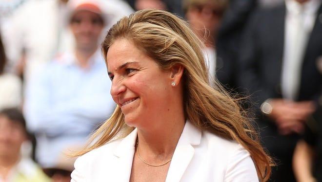 Arantxa Sanchez Vicario at the French Open.