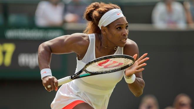 Serena Williams had no trouble Thursday against Caroline Garcia of France.