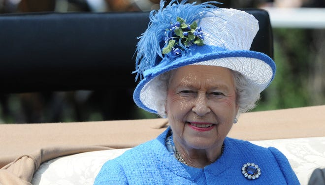 Queen Elizabeth II attends the horse racing festival Royal Ascot in Ascot, England.