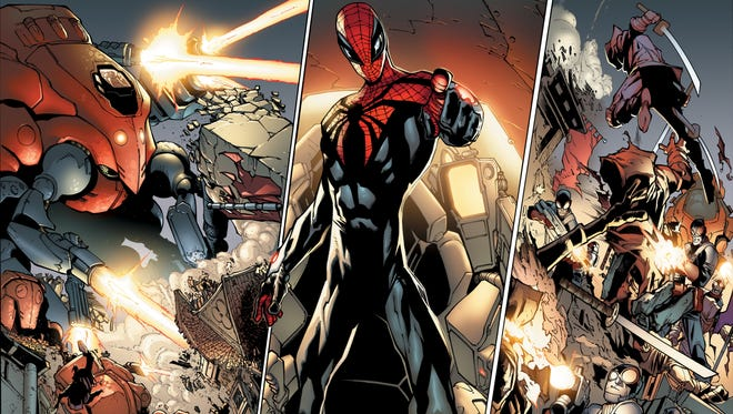 "Spider-Man gets some new weaponry and henchmen for a new mission in an upcoming issue of ""Superior Spider-Man."""