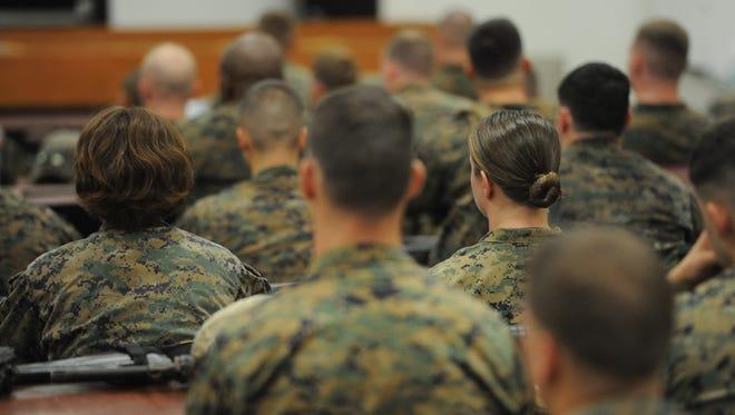 Marines during combat endurance test in  Quantico, VA.