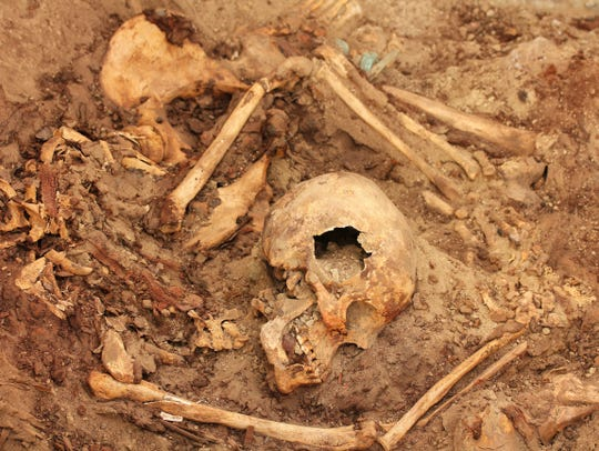 Wari burial from 1,200 years ago.