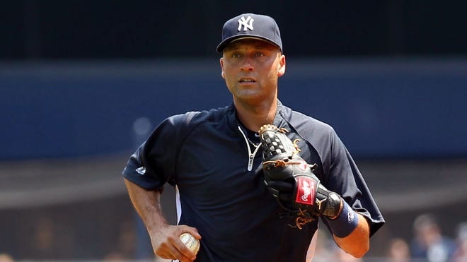 Derek Jeter, seen here at Yankee Stadium, runs outdoors for the first time in two months back in Tampa.
