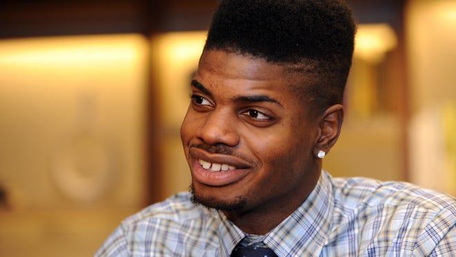 Nerlens Noel at the NBA draft.