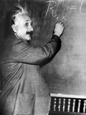 Swiss-U.S. physicist Albert Einstein (1879-1955), author of theory of relativity, was awarded the Nobel Prize for Physics in 1921.