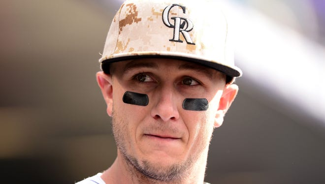 Troy Tulowitzki during the game against the San Diego Padres at Coors Field.
