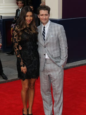 Renee Puente and Matthew Morrison attend the press night for 'Charlie and the Chocolate Factory' at Theatre Royal on June 25.