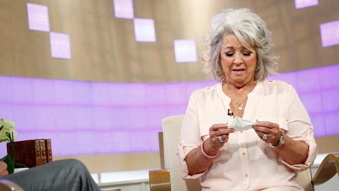 Paula Deen weeps on Wednesday's 'Today' show.