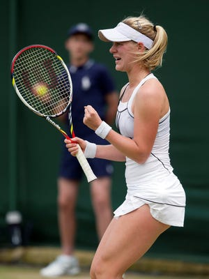 Alison Riske  of the USA earns her first trip to the third round with a victory against Urszula Radwanska of Poland.